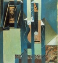 Gris The guitar, 1913, Oil and papier colle on canvas, 61x50