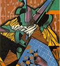 Gris Violin and checkerboard, 1913, 100x65 cm, Simon and Bon