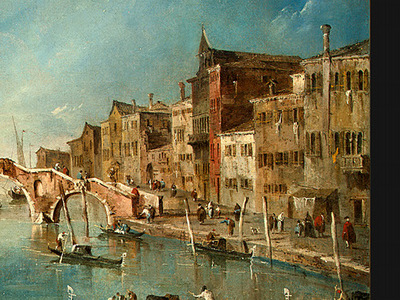 guardi view on the cannaregio canal, venice, c  1775 1780,