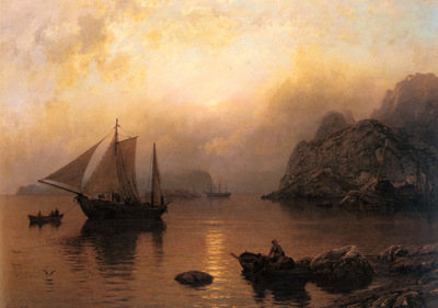 Gude Hans Fredrik Fishing Party At Sunrise