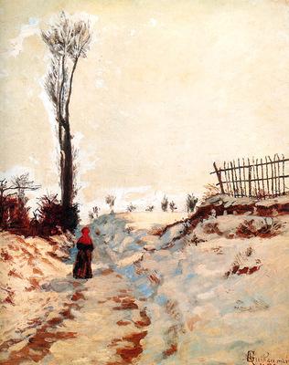 Guillaumin Armand Road through the snow Sun