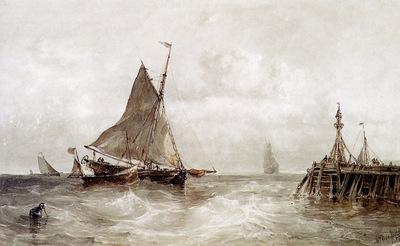 Haas de Maurits Sailing ships Sun