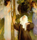 Ang20017 The Cloister or The World Arthur Hacker sqs