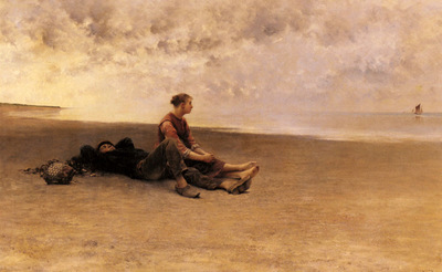 Hagborg August Wilhelm Nikolaus Daydreaming On The Beach
