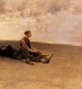 Hagborg August Wilhelm Nikolaus Daydreaming On The Beach