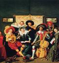 Hals Dirck A musical party Sun