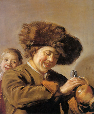 Hals Frans Two laughing boys Sun