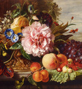 Hamburger Helen Augusta A Still Life With Flowers And Fruit