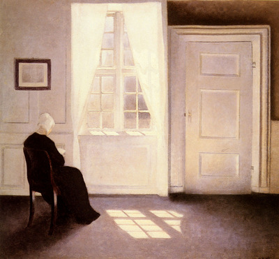 Hammershoi Vilhelm A Woman Reading By A Window