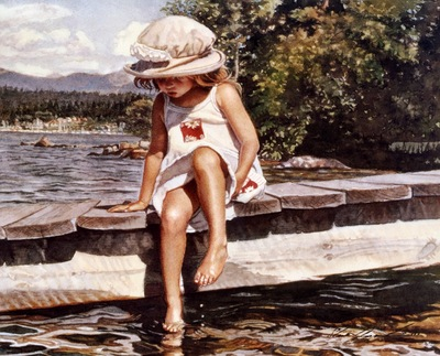 Steve Hanks Getting Her Feet Wet, De