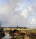 Hans Josephus Panoramic summer landscape Sun