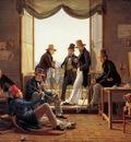 Hansen Constatin Group of Danish artists in Rome Sun