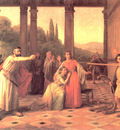 Saul Throwing His Spear At David