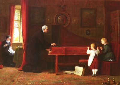 Hardy Frederick Daniel British 1826 to 1911 The Piano Tuner SnD 1881 O C 49 5 by 62 9cm
