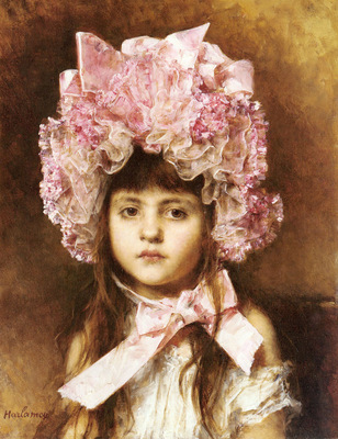 Harlamoff Alexis The Pink Bonnet