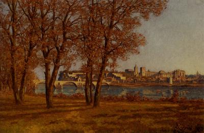Harpignies Henri Joseph Le Chateau Des Papes A Avignon