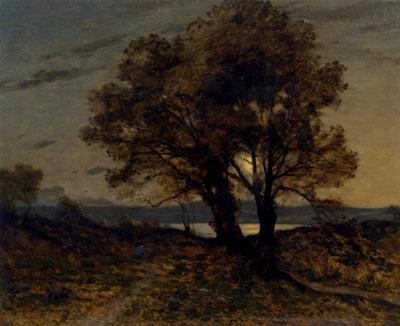 Harpignies Henri Joseph Paysage Au Clair De Lune