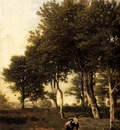 Harpignies Henri Landscape With Two Boys Carrying Firewood