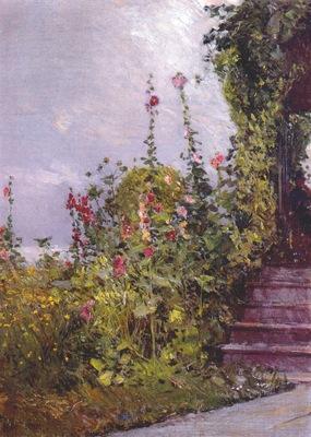 hassam celia thaxters garden, appledore 1890