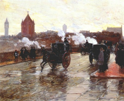 hassam clearing sunset corner of berkeley street and columbus avenue