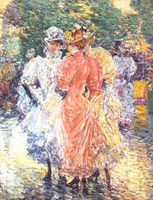 hassam conversation on the avenue