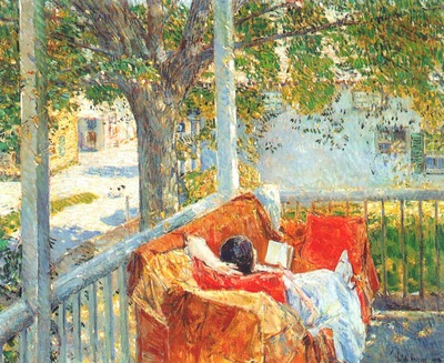 hassam couch on the porch, cos cob