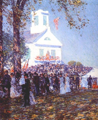 hassam country fair, new england