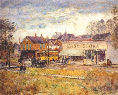 hassam end of the trolley line, oak park, illinois