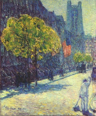 hassam just off the avenue, fifty third street, may
