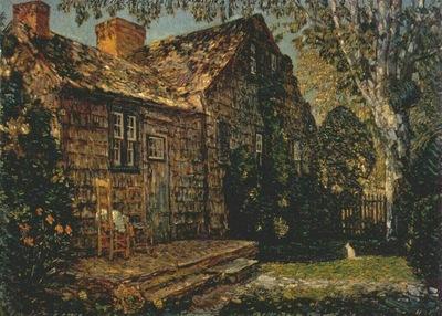 hassam little old cottage, egypt lane, east hampton