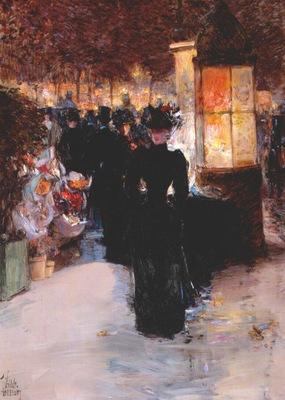 hassam paris nocturne c1889