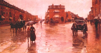 hassam rainy day, boston