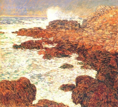 hassam seaweed and surf, appledore
