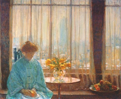 hassam the breakfast room, winter morning
