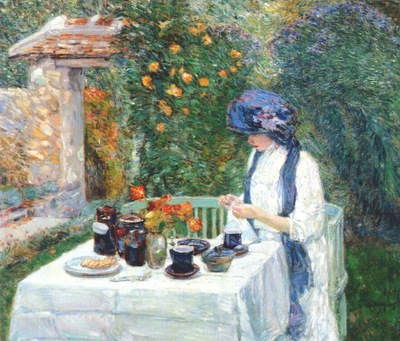 hassam the terre cuite tea set french tea garden