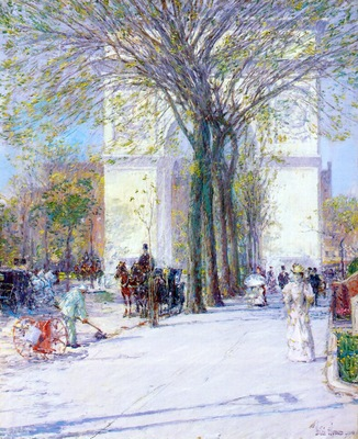 hassam washington arch, spring