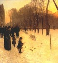 hassam boston common at twilight 1885