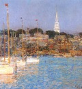 hassam cat boats, newport