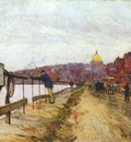 hassam charles river and beacon hill c1892