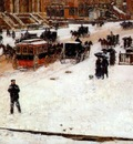 hassam fifth avenue in winter c1890