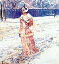 hassam lady in pink c1890