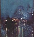 hassam nocturne, railway crossing, chicago c1892
