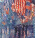 hassam the avenue in the rain