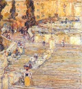 hassam the spanish stairs, rome