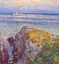 hassam white island light isles of shoals at sundown