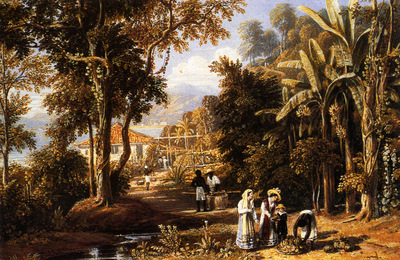 Havell William Garden Scene On The Broganza Shore Rio de Janeiro