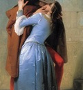 Hayez, Francesco The Kiss detail end