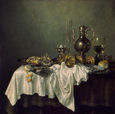 Heda, Willem Claesz Breakfast with a lobster, 1648, Eremitag