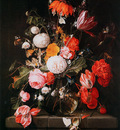 Heem de Cornelis Flowers in a vase Sun