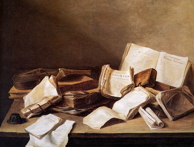 Heem de Jan Davidsz Still life with books Sun